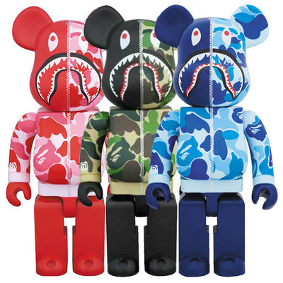 bearbrick 1000 bape camo shark set of 3 all urban attitude