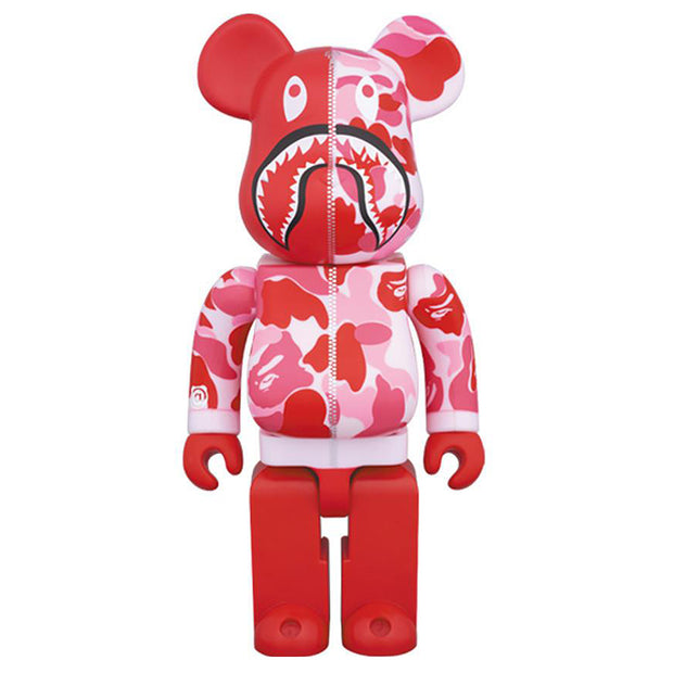 bearbrick 1000 bape camo shark set of 3 red urban attitude