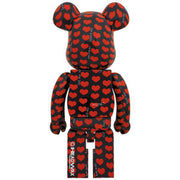 bearbrick 1000 black heart back urban attitude