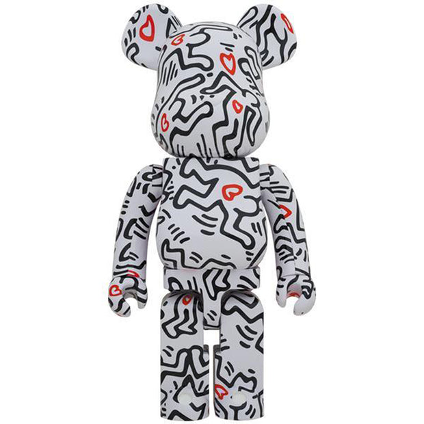 bearbrick 1000 keith haring version 8 front urban attitude