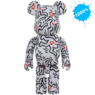 bearbrick 1000 keith haring version 8 main urban attitude