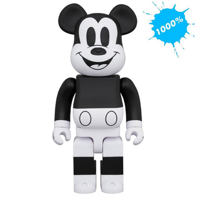 bearbrick 1000 mickey mouse black white 2020 version main urban attitude