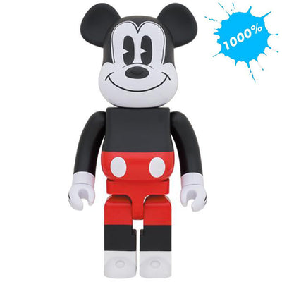 bearbrick 1000 mickey mouse red and white version urban attitude