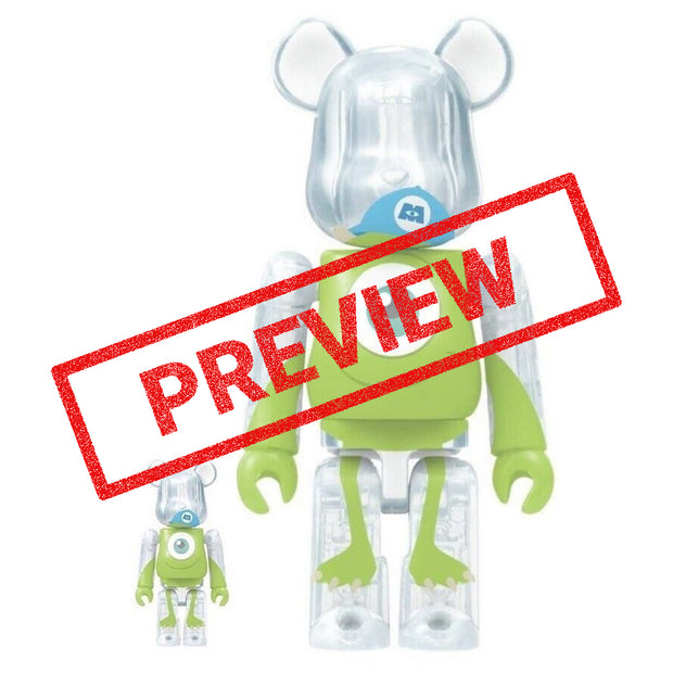 bearbrick 400 100 set monsters inc mike preview urban attitude