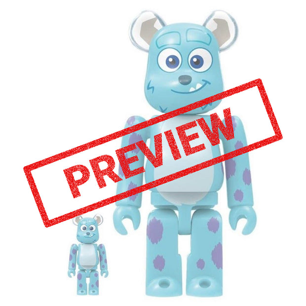 bearbrick 400 100 set monsters inc sulley preview urban attitude
