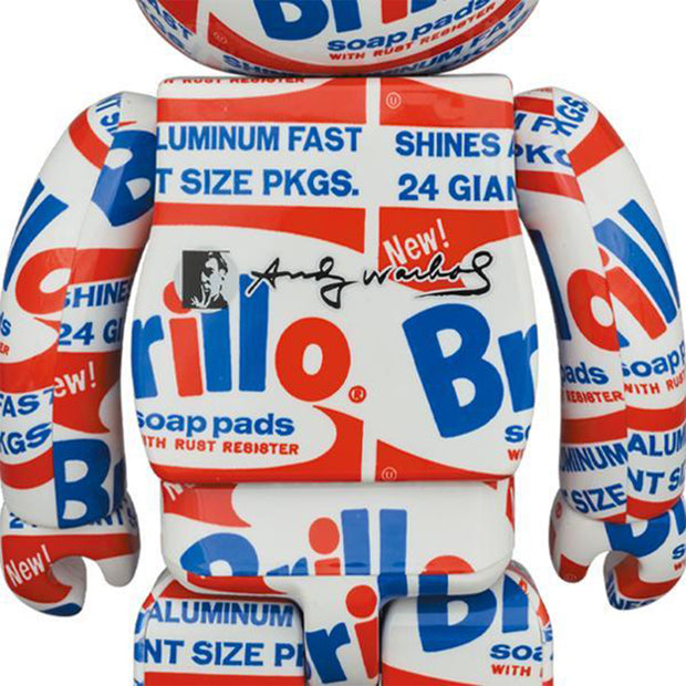 bearbrick 400 and 100 set andy warhol brillo urban attitude