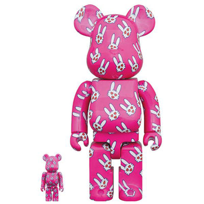 bearbrick 400 and 100 set hitohatausagi urban attitude