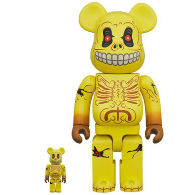 bearbrick 400 and 100 set skull face madballs urban attitude