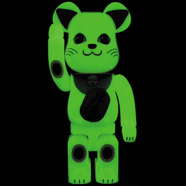 bearbrick 400 manekineko glow in the dark urban attitude