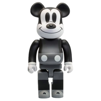 bearbrick 400 mickey mouse black and white version urban attitude