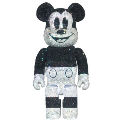 bearbrick 400 mickey mouse decorate cyrstals swarovski urban attitude