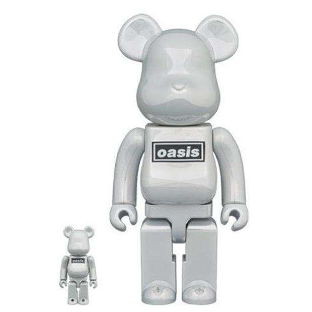 bearbrick 100 400 oasis white chrome urban attitude