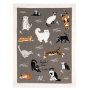 Blue Q Dish Towel People I Love: Cats Urban Attitude