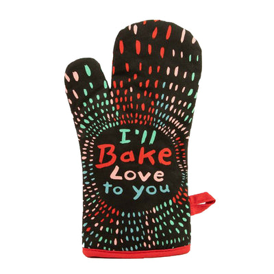 blue q oven mitt ill bake love to you urban attitude