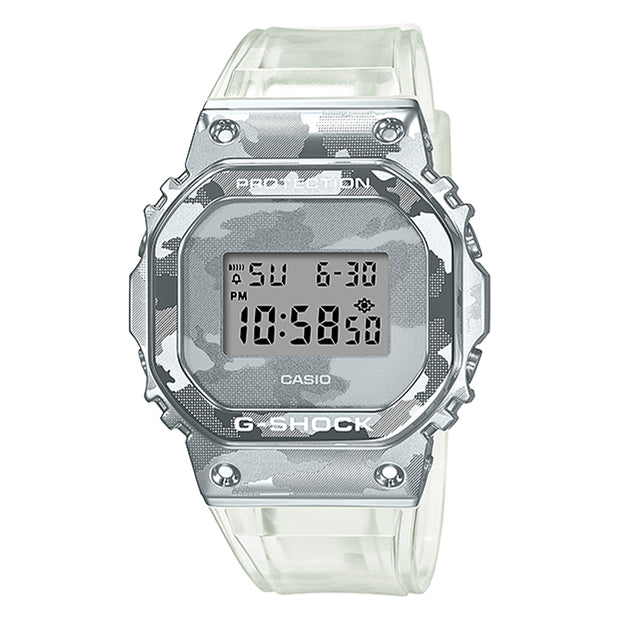 casio g-shock watch metal covered series clear camo gm5600scm-1d urban attitude