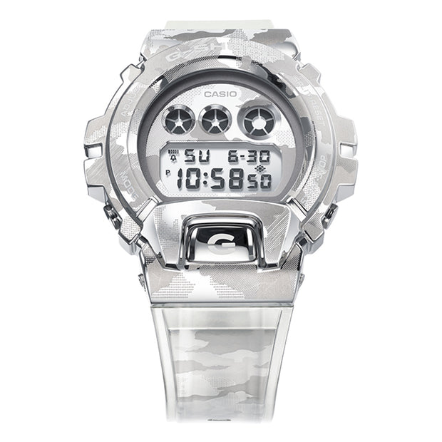 casio g-shock watch metal covered series clear camo gm6900scm-1d front urban attitude