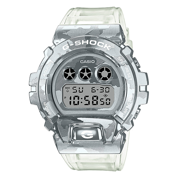 casio g-shock watch metal covered series clear camo gm6900scm-1d urban attitude