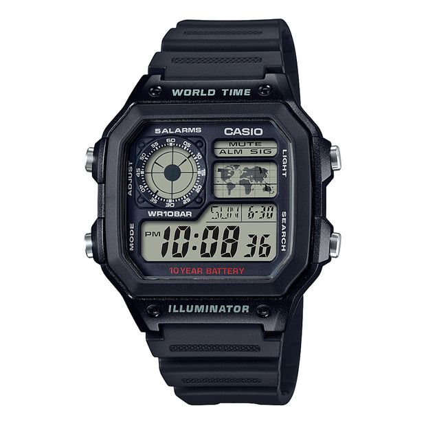 casio watch ae1200wh-1a urban attitude
