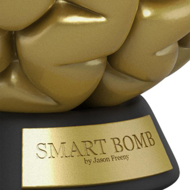 mighty jaxx smart bomb by jason freeny gold edition urban attitude