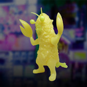 mighty jaxx super kaiju figure tempura san radioactive yellow urban attitude