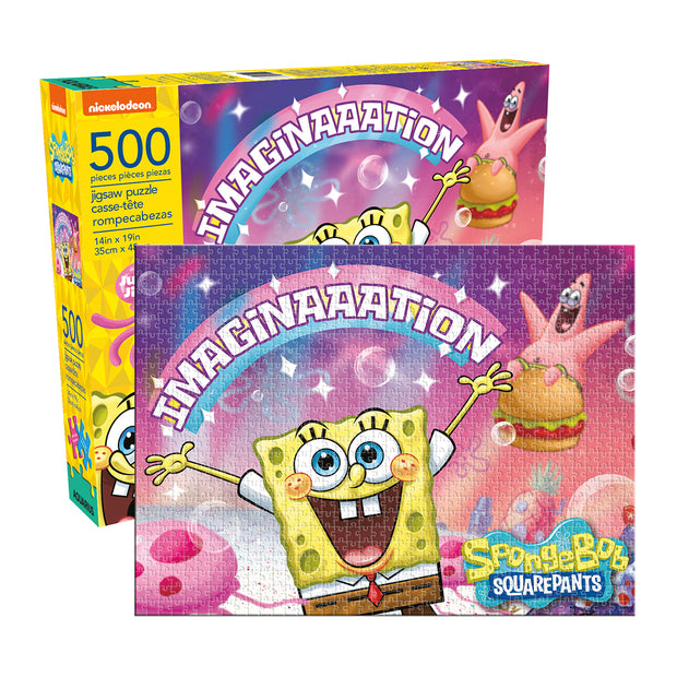 nmr sponegbob imagination puzzle 500 piece urban attitude