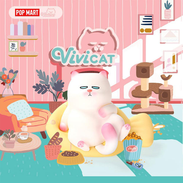 pop mart blind box lazily sitting cat urban attitude