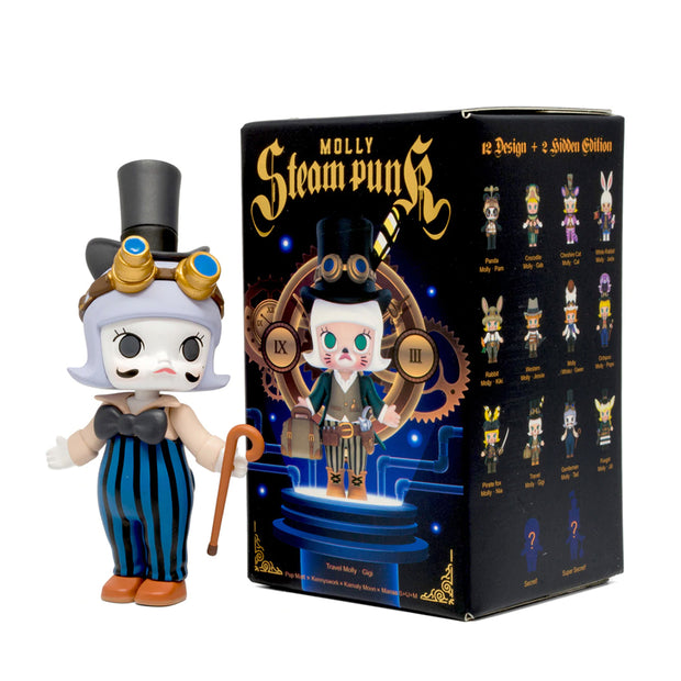 pop mart blind box molly steampunk urban attitude