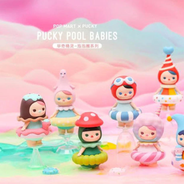 pop mart blind box pucky pool babies urban attitude