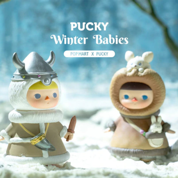 pop mart blind box pucky winter babies urban attitude