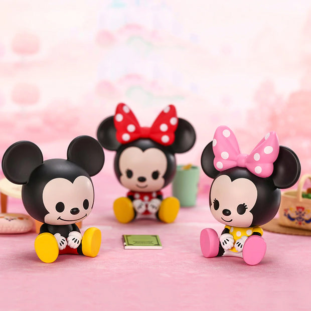 pop mart blind box sitting babies mickey family urban attitude