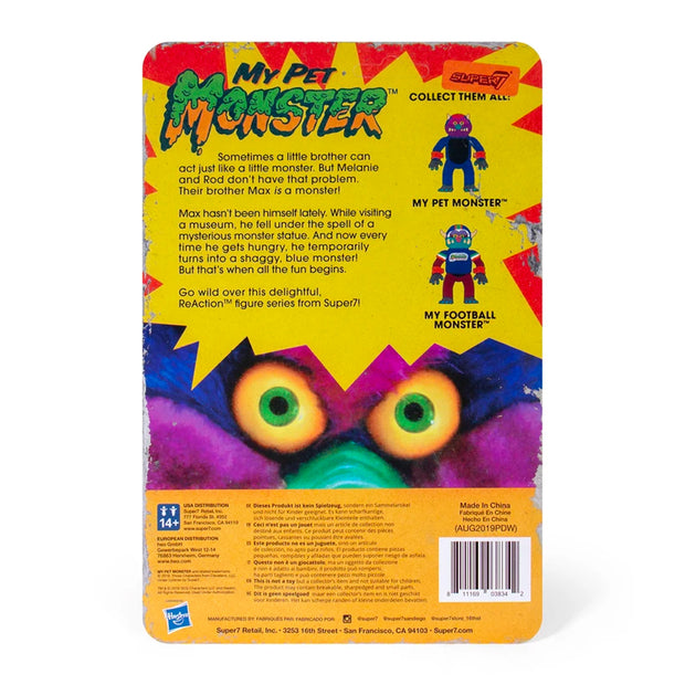 Super7 My Pet Monster ReAction Figure Back - Monster Urban Attitude