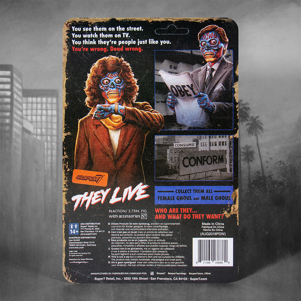Super7 They Live ReAction Figure - Female Ghoul Back Urban Attitude