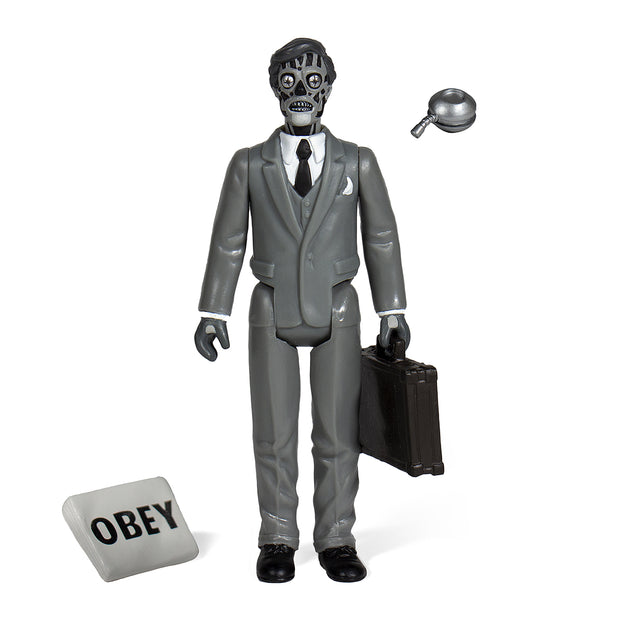 Super7 They Live ReAction Figure - Male Ghoul (Black & White) Urban Attitude