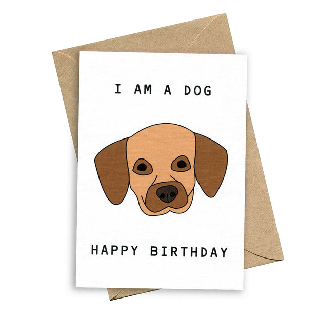 things by bean card dog birthday urban attitude