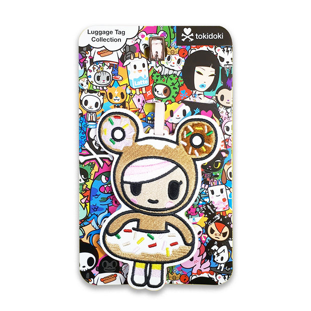 tokidoki luggage tag donutella urban attitude