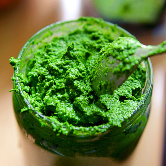 Homemade wild garlic pesto which packs a punch! (Recipe)