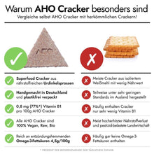 Laden Sie das Bild in den Galerie-Viewer, AHO Natur Cracker Raw Vegan Cracker AHO.BIO GmbH