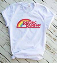 Load image into Gallery viewer, Vintage Reading Rainbow Unisex t-shirt, Retro Reading Rainbow, Vintage Tee, Lamar Burton