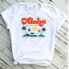 Load image into Gallery viewer, Vintage Aloha Unisex T-shirt, Aloha Retro T-shirt, Vacation T-shirt