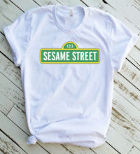 Load image into Gallery viewer, Sesame Street T-shirt,  Sesame Street Logo Tee, Vintage Sesame Street Tee, Sesame Street