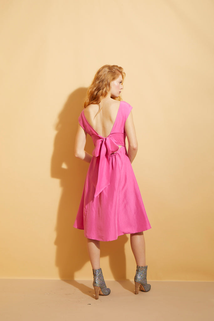 Pink Tie Back Dress
