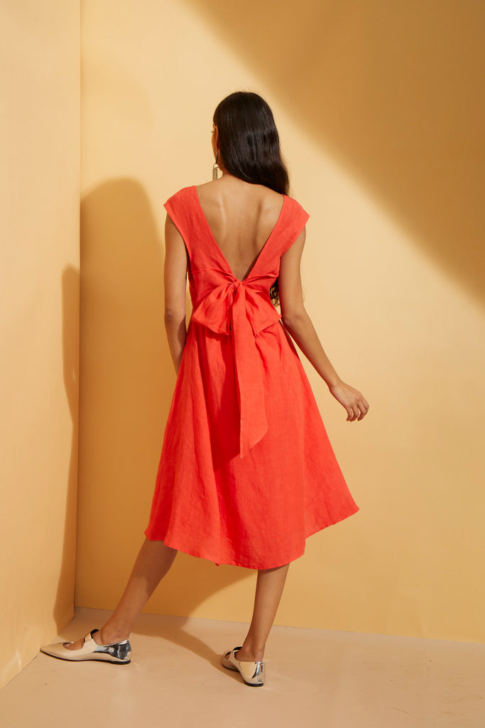 Scarlet Tie Back Dress