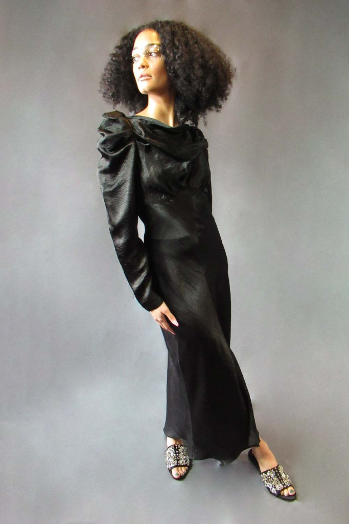 Black Cowl Dress