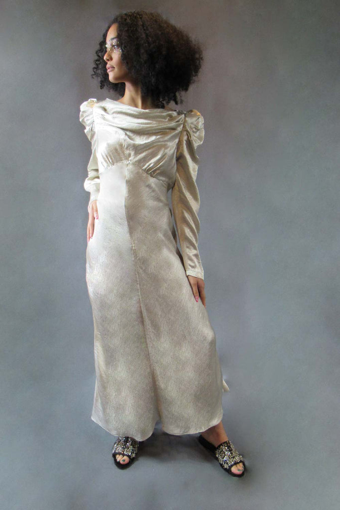 Platinum Cowl Dress