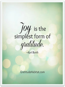 A Time to Talk About Gratitude and Joy
