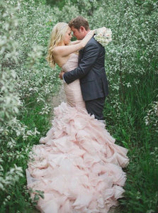 Lace Up Sweetheart Mermaid Wedding Dress with Beading