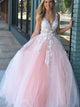 Pink Princess Tulle Ball Gown Prom Dress