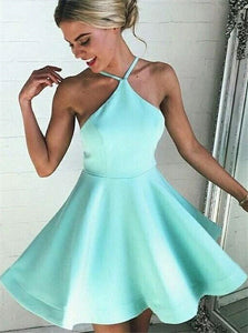 Sexy A Line Mint Green Short Backless Homecoming Dress