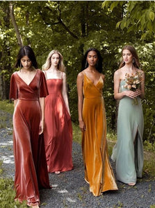 Strapless Floor Length Bridesmaid Dresses with Slit