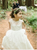 A Line Scoop White Tulle Flower Girl Dresses